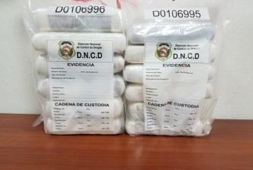 DNCD ocupa doce paquetes de drogas en aeropuerto Punta Cana