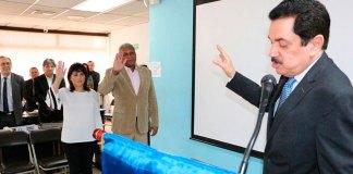 Mirelys Uceta mientras es juramentada como representante de República Dominicana ante EUROLAT