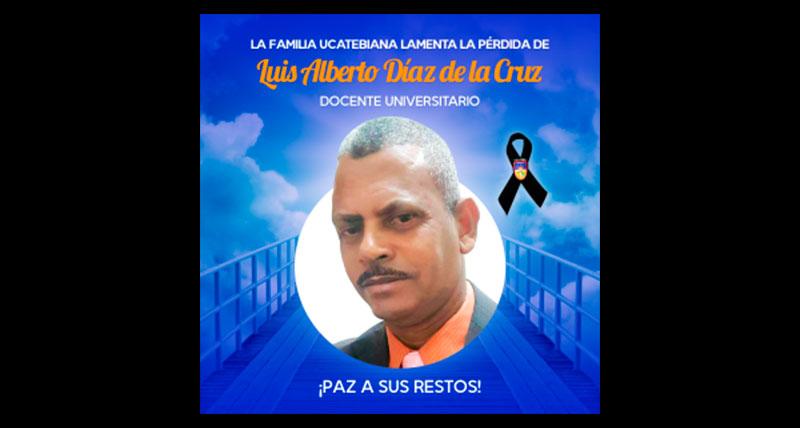 UCATEBA suspende docencia por suicidio profesor Díaz de la Cruz