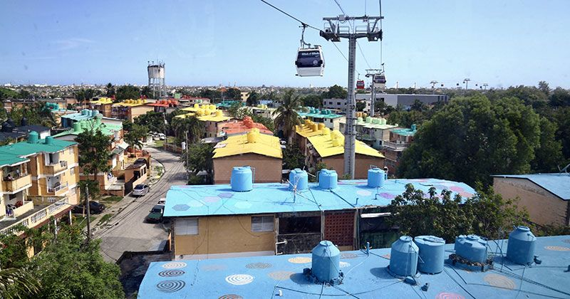 El Teleférico de Santo Domingo promueve arte e inclusión social