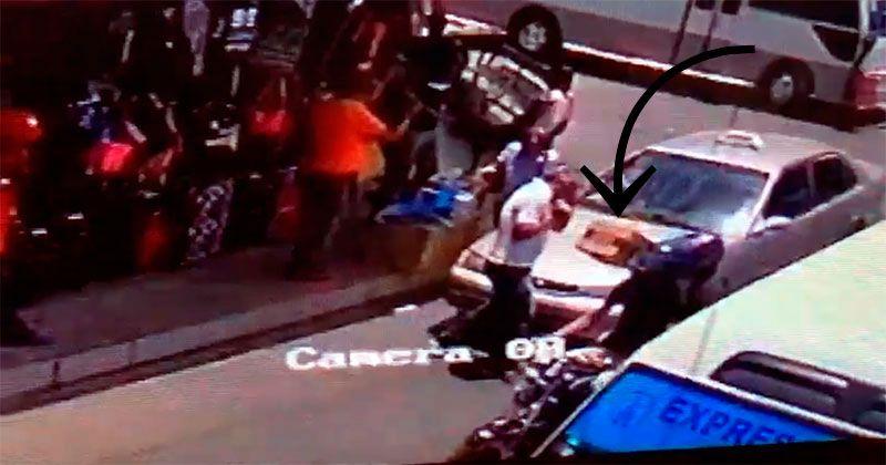 Sicarios asesinaron 2 en Santiago disimularon arma en caja de cartón