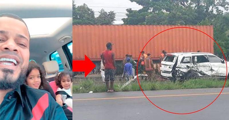 Don Miguelo y su familia envuelto en accidente de tránsito en la autopista Duarte