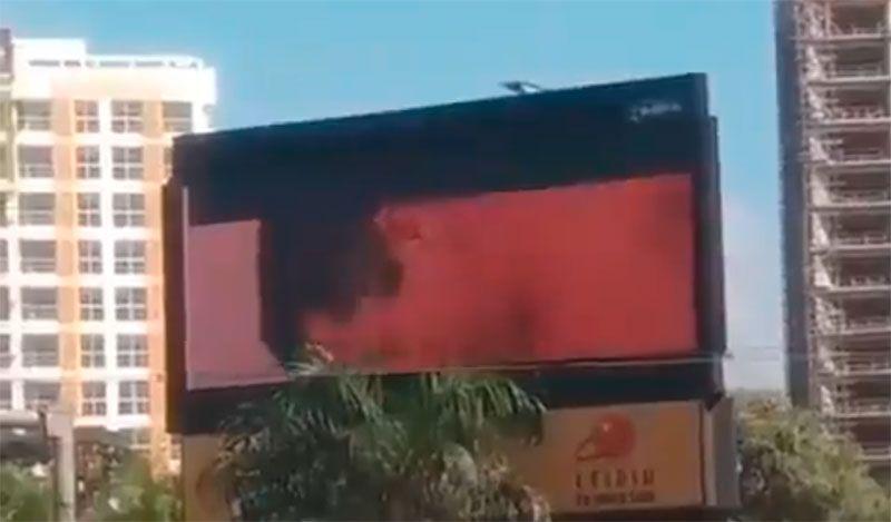 Vídeo porno en valla de la 27 se convierte en noticia del sábado