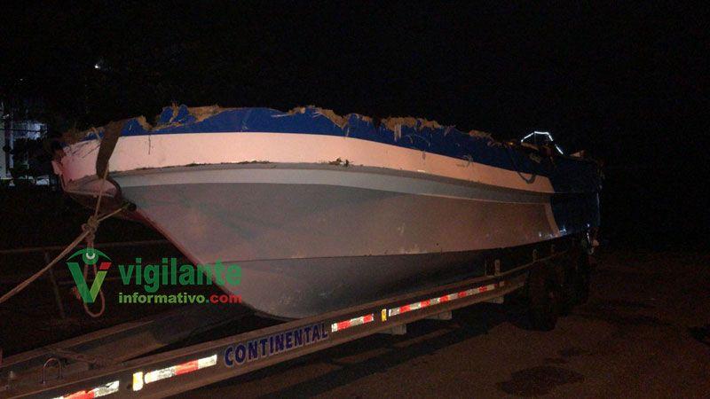 En lancha recuperada en el mar Caribe narcos transportaron 707 kilos de cocaína