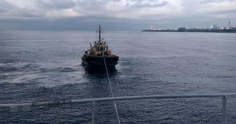 Autoridad Portuaria rescata barco de Rusia varado próximo a Güibia