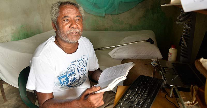 Periodista Juan Modesto Rodríguez entre pobreza y soledad