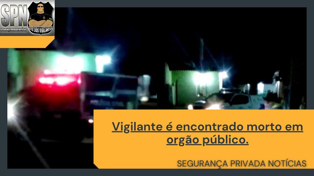 SPN – Vigilante é encontrado morto em orgão público.