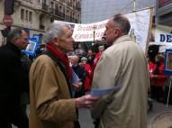 Xavier Dor président de SOS Tout-Petits à une manifestation contre l'avortement