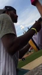 2015-06-04 Celebrity Softball - PG signing autographs
