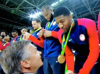 Paul Georges receives first gold medal