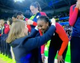 Tamika Catchings receives fourth gold medal