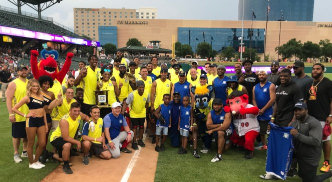 Pacers, Caroline Symmes Celebrity Softball Challenge, Victory Field, Myles Turner, Robert Mathis
