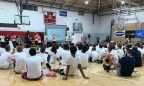 2018-08-05 Victor Oladipo basketball camp chatting