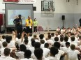 2018-08-05 Victor Oladipo basketball camp interacting