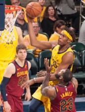 Myles Turner, LeBron James, Pacers