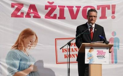 Peticija za život i pomoć ženama predana Saboru, Vlada pozvana na odbacivanje Istanbulske konvencije