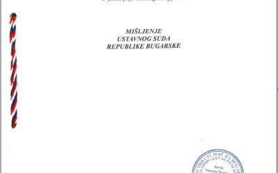 "Priopćenje u vezi presude Ustavnog suda Republike Bugarske o neustavnosti ""Istanbulske konvencije"""