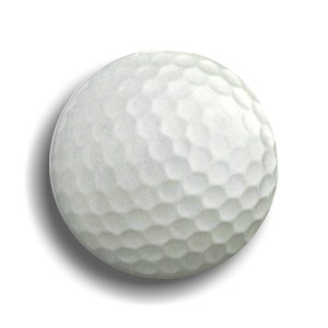 Gollf Button Shaped Badge