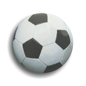 Football button shaped Badges