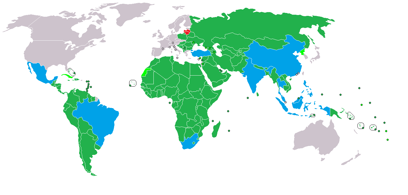 Image   IMF Developing Countries Map 2014 png   1945 1991  Cold War     IMF Developing Countries Map 2014 png