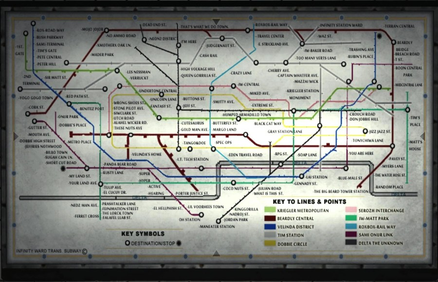 Image   Tube Map Underground MW3 png   Call of Duty Wiki   FANDOM     Tube Map Underground MW3 png