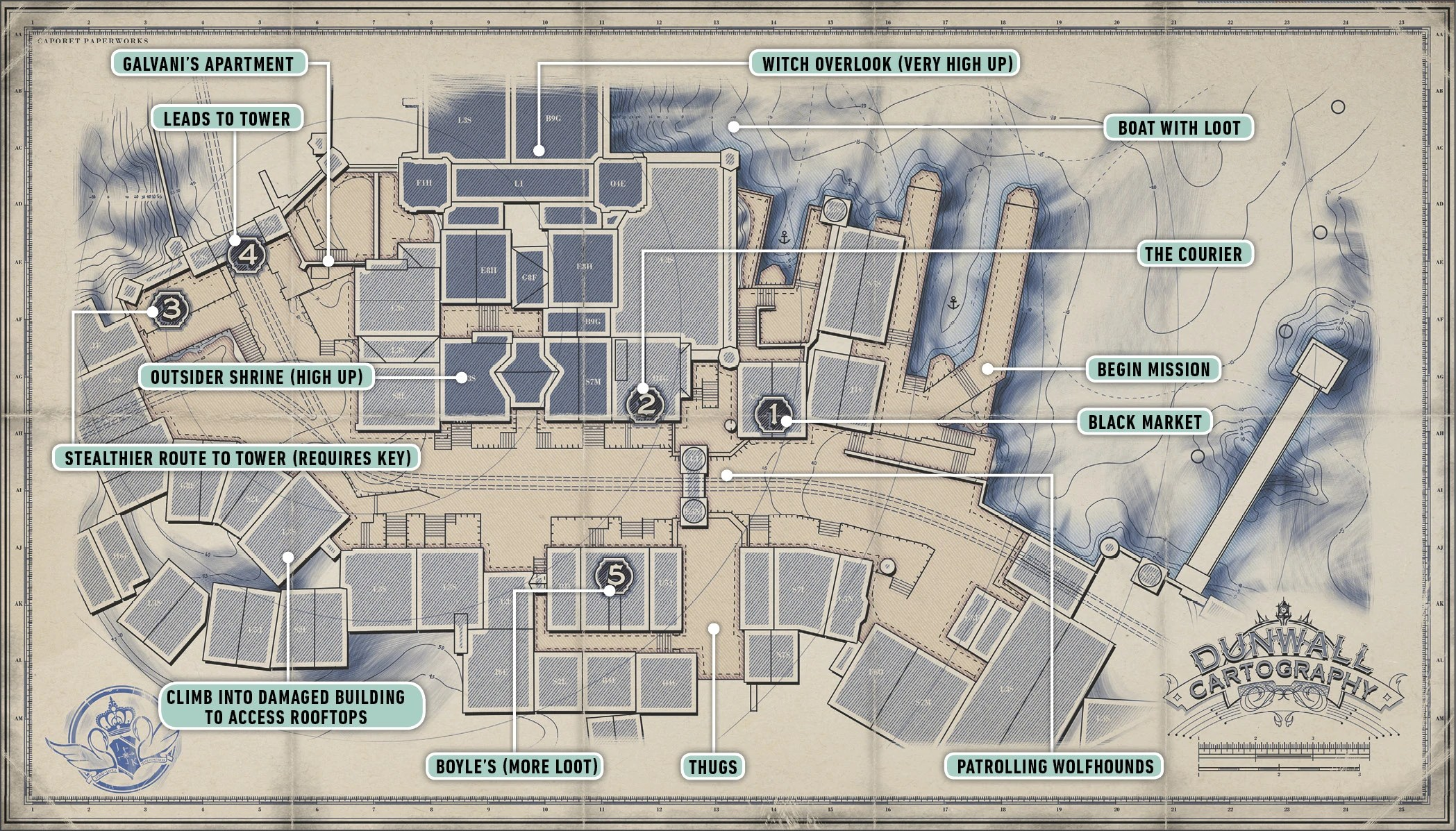 Image   DUNWALL STREETS MAP 2 jpg   Dishonored Wiki   FANDOM powered     DUNWALL STREETS MAP 2 jpg