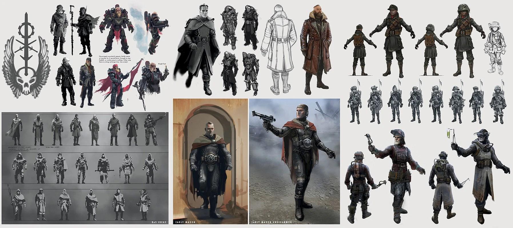Image Fo4 BoS Armor Concept Artjpg Fallout Wiki
