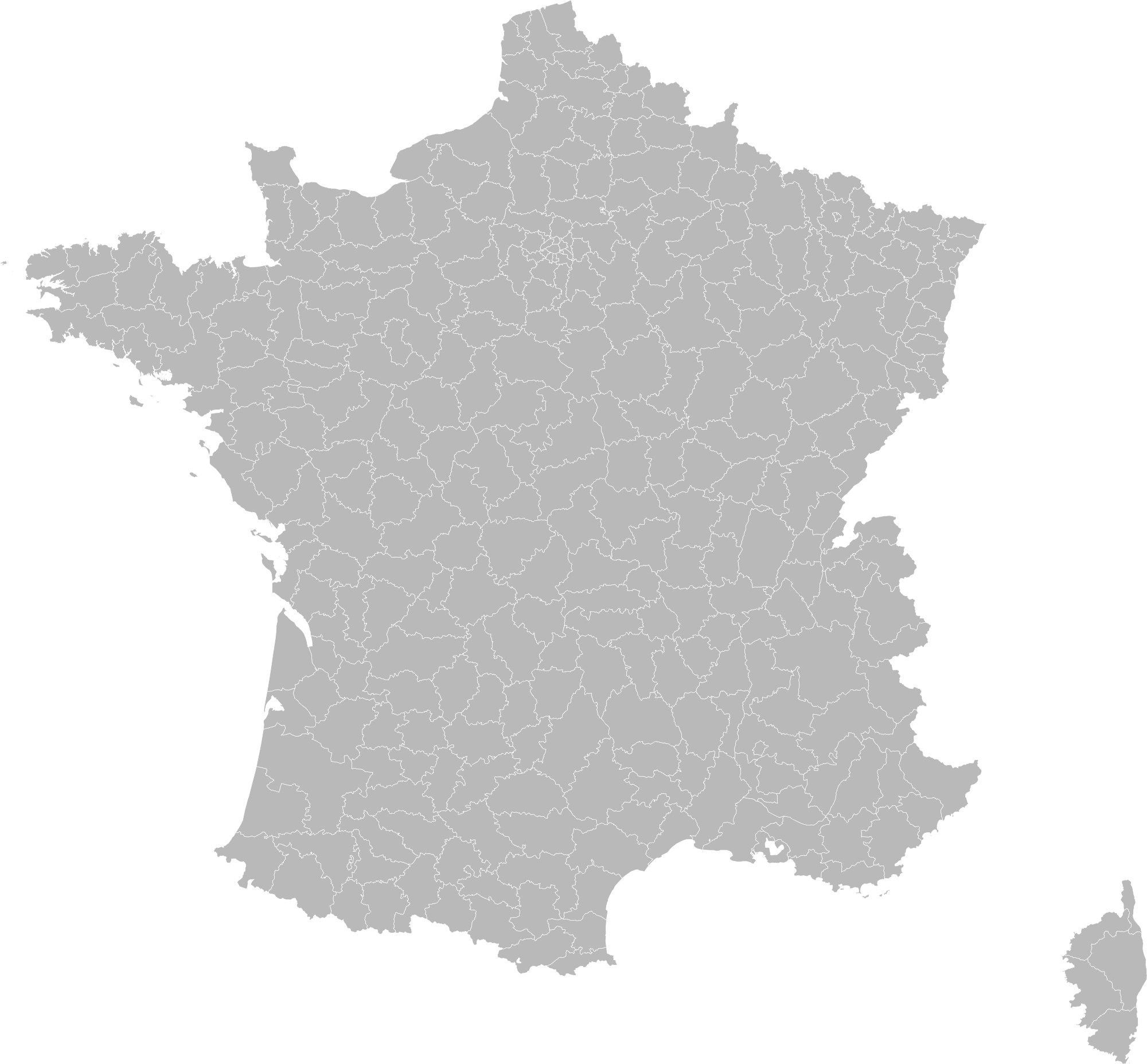 Image   Blank Map of France  with Arrondissements png   Implausable     Blank Map of France  with Arrondissements png