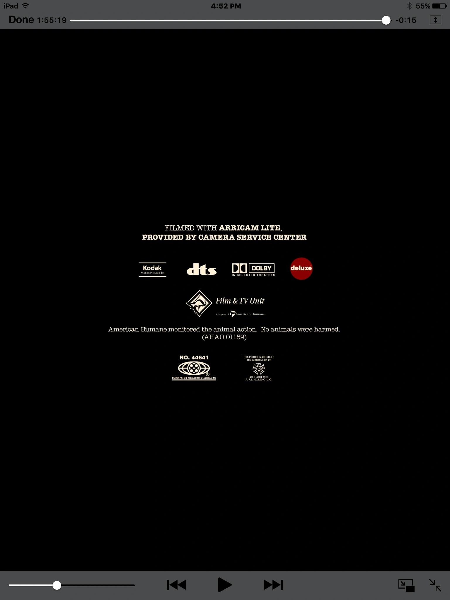 Mpaa No Logo End Credits