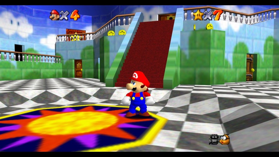 Image   Princess Peach s Castle Inside SM64 jpg   MarioWiki   FANDOM     Princess Peach s Castle Inside SM64 jpg