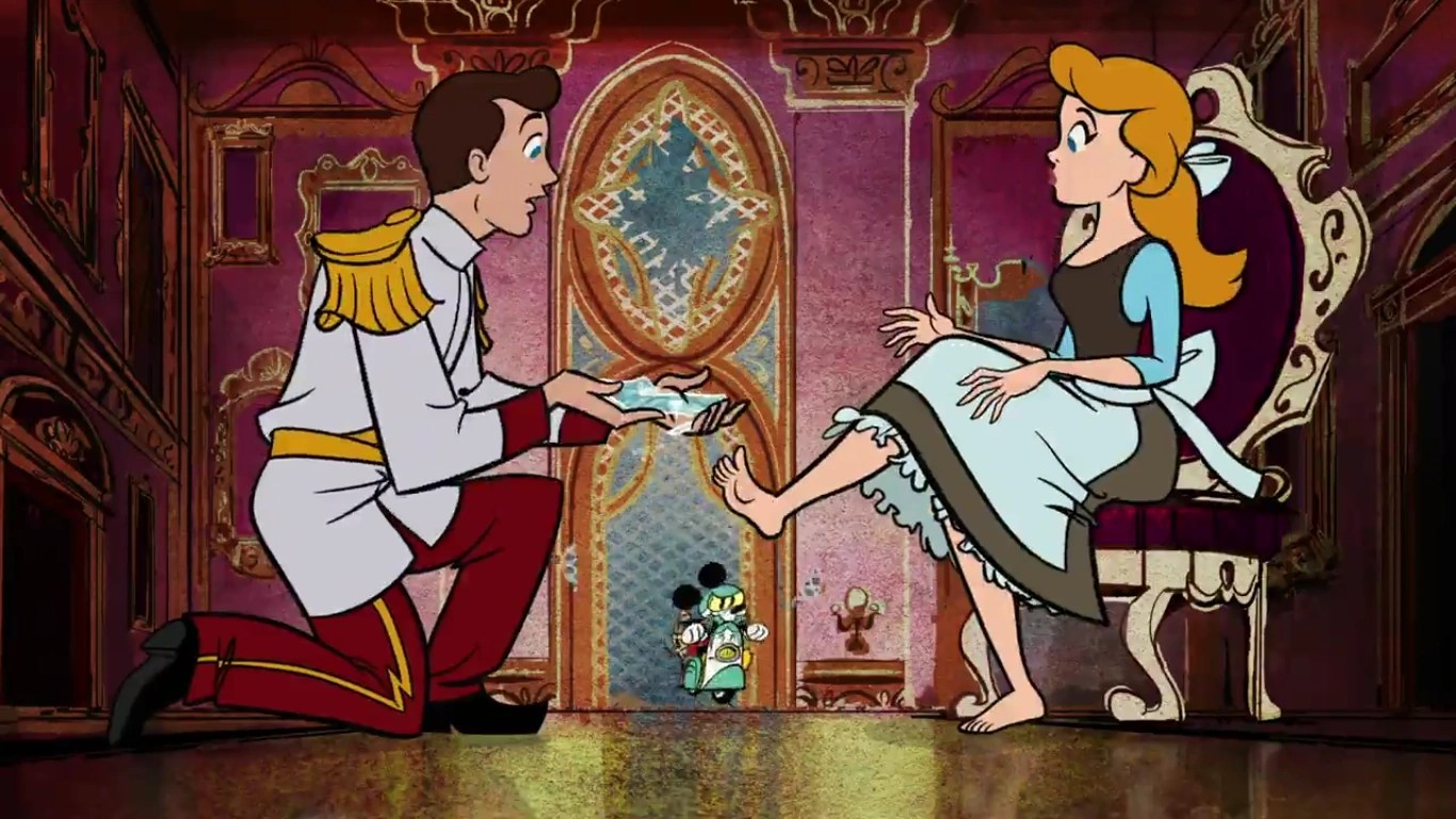 Screencaps Mickey Cinderella Disney Mousetriomphe