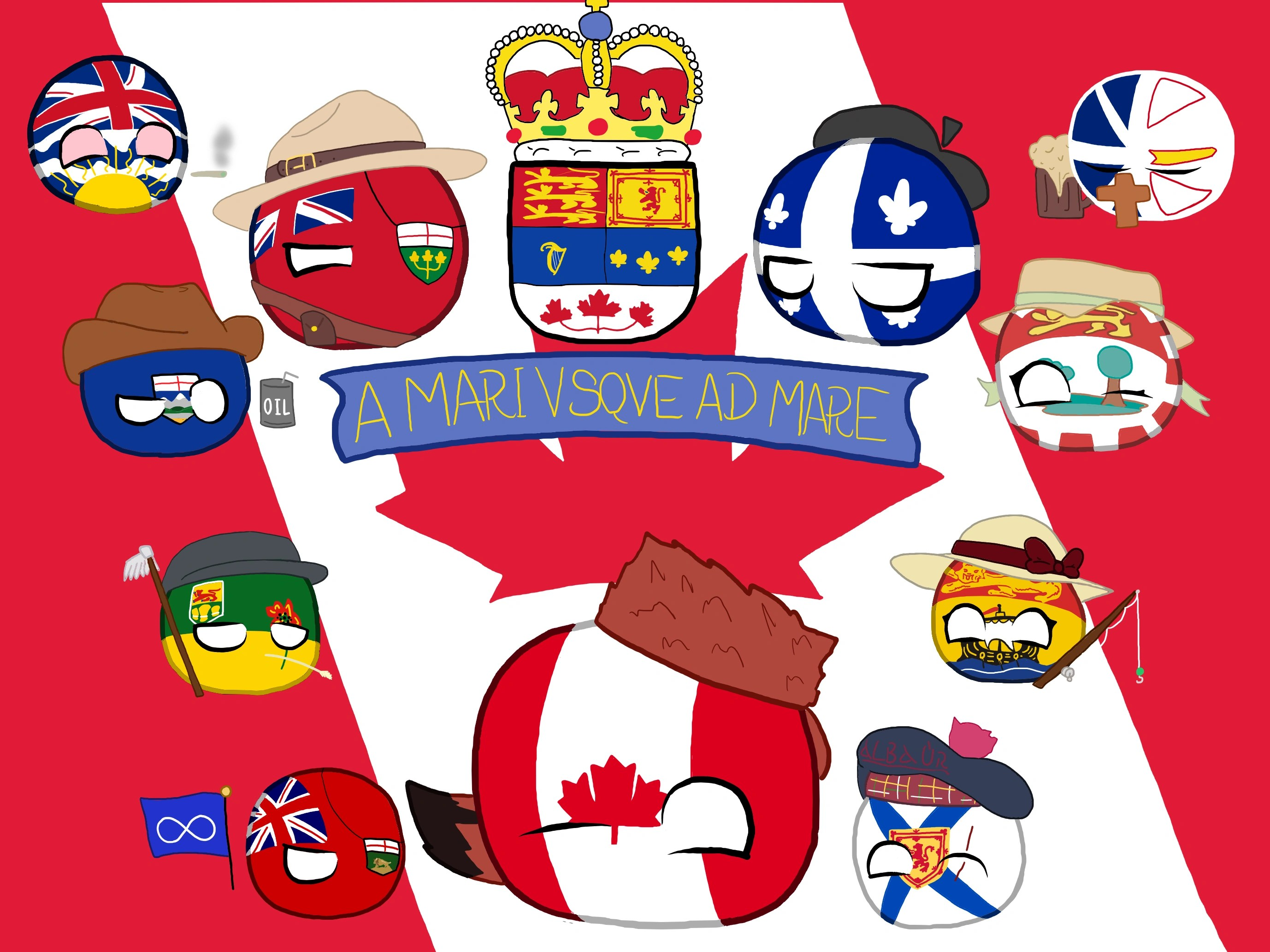 Canada S Bastards Polandball