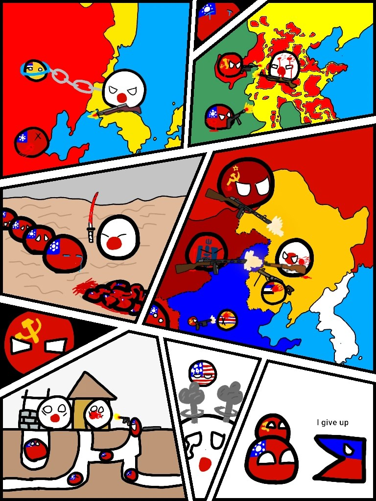 Countryballs Comic 1 How The Cold War Started By Themewx On
