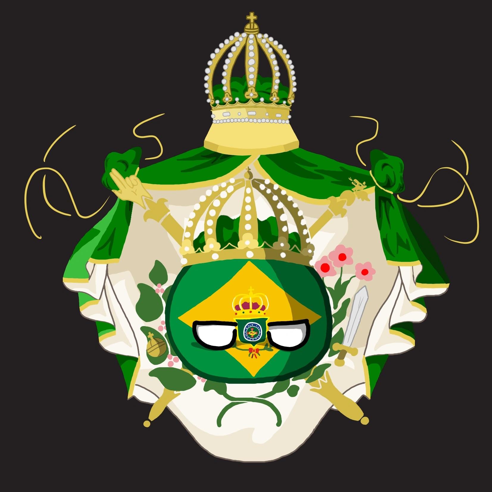 The Brazilian Empire Countryballs Art By Darknessthegirl On
