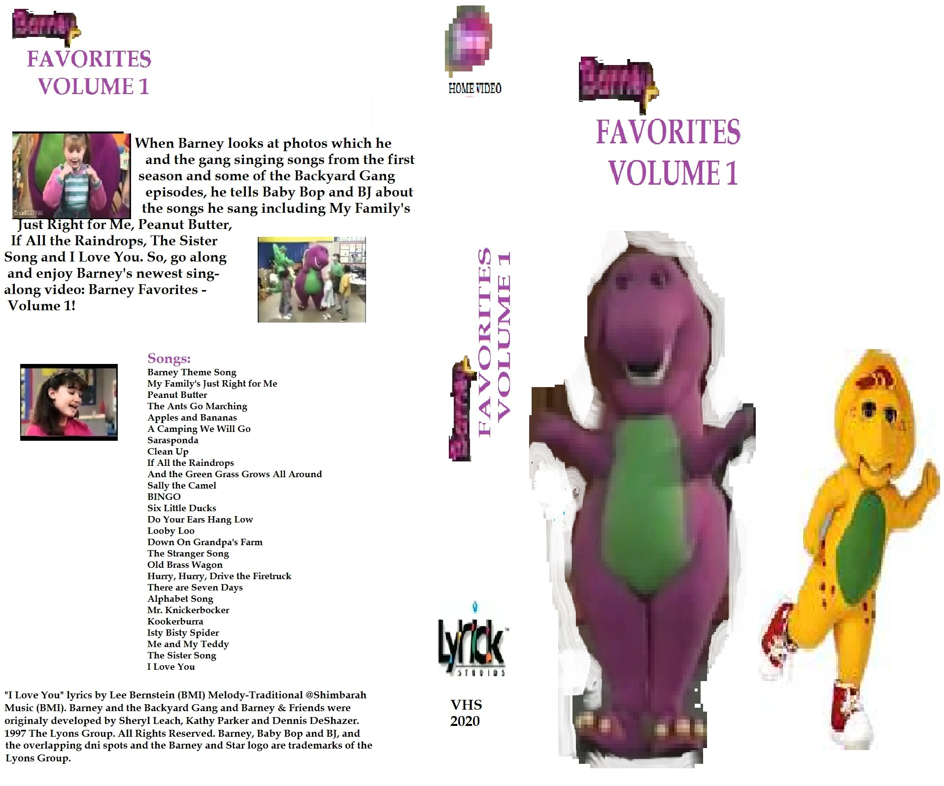 Barney Favorites Volume 1 Scratchpad FANDOM Powered By