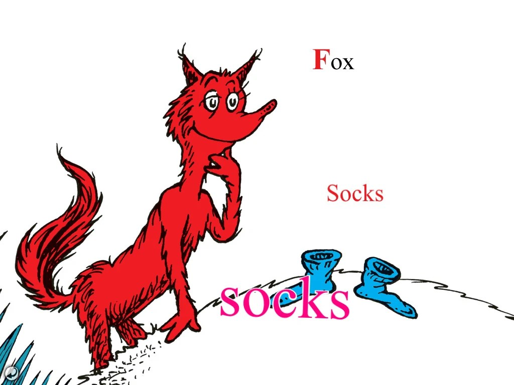 Fox In Socks Printable Template