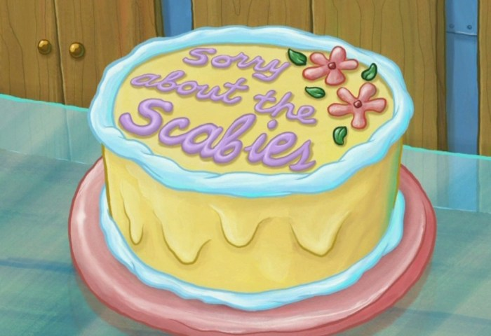 Sorry About The Scabies Cake Encyclopedia Spongebobia Fandom
