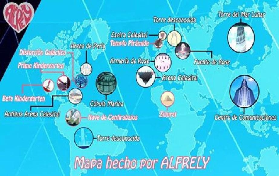 Map Steven Universe World