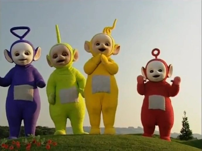 Down Teletubbies Going And
