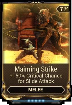 Maiming Strike WARFRAME Wiki FANDOM Powered By Wikia