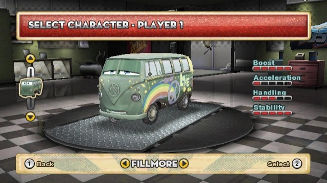 Fillmore   World of Cars Wiki   FANDOM powered by Wikia Fillmore s first playable video game appearance  Cars  Mater National  Championship