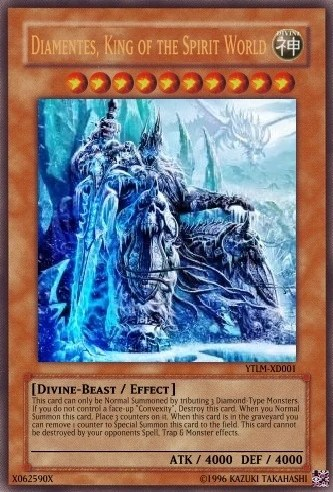 Diamentes King Of The Spirit World Legal Card Yu Gi