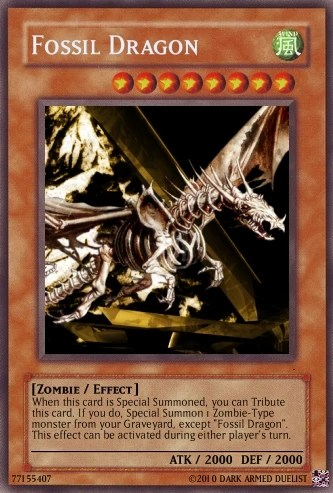 Fossil Dragon Yu Gi Oh Card Maker Wiki Fandom Powered