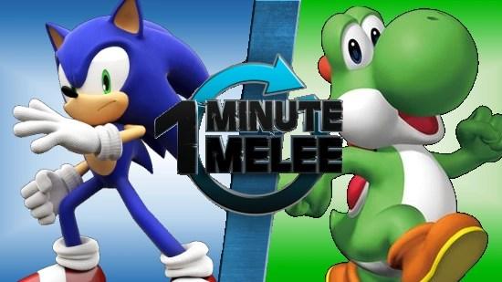ONE MINUTE MELEE Sonic The Hedgehog Vs Yoshi One Minute