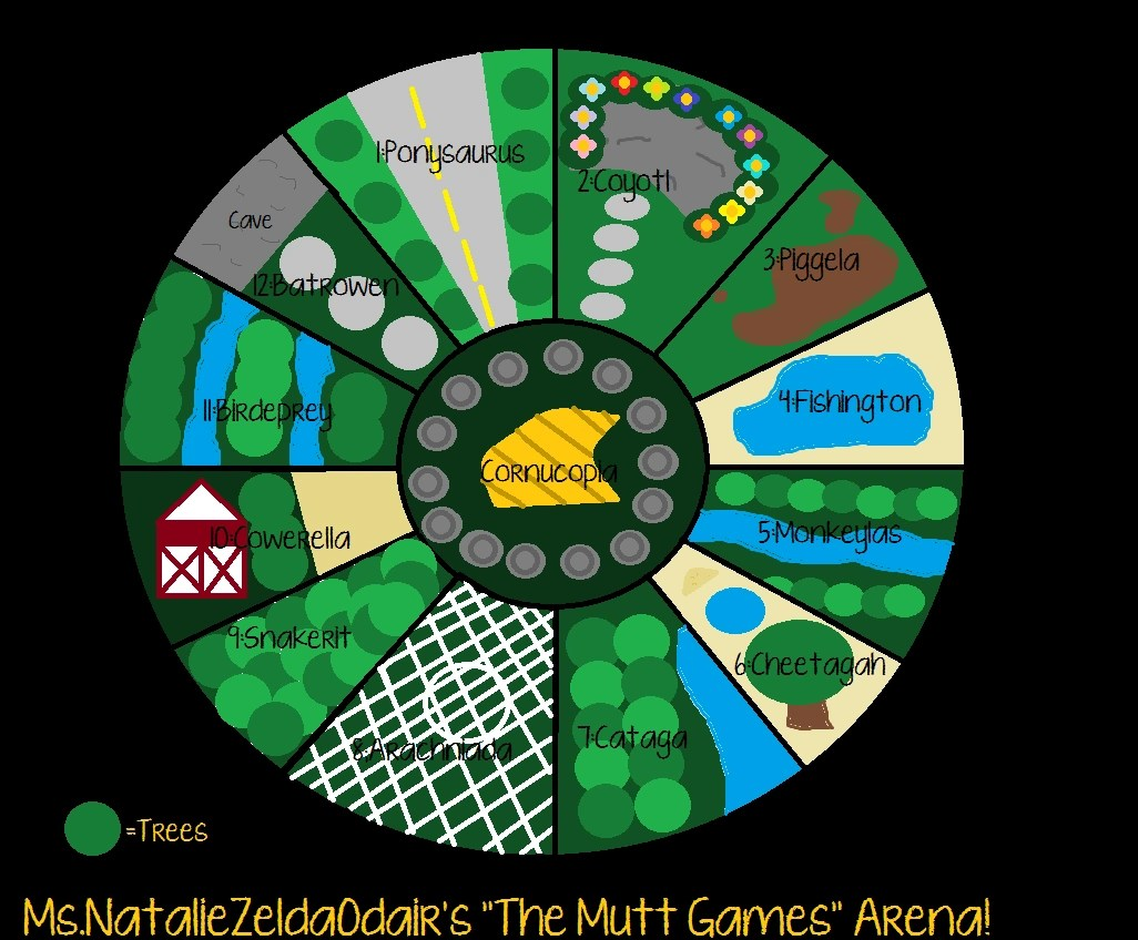 Map Hunger Games Districts 13