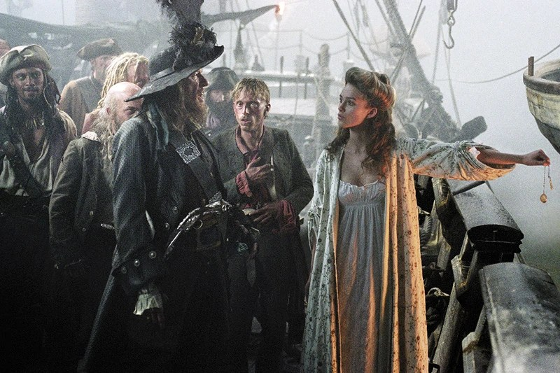 Keira Knightley Pirates Of The Caribbean Water