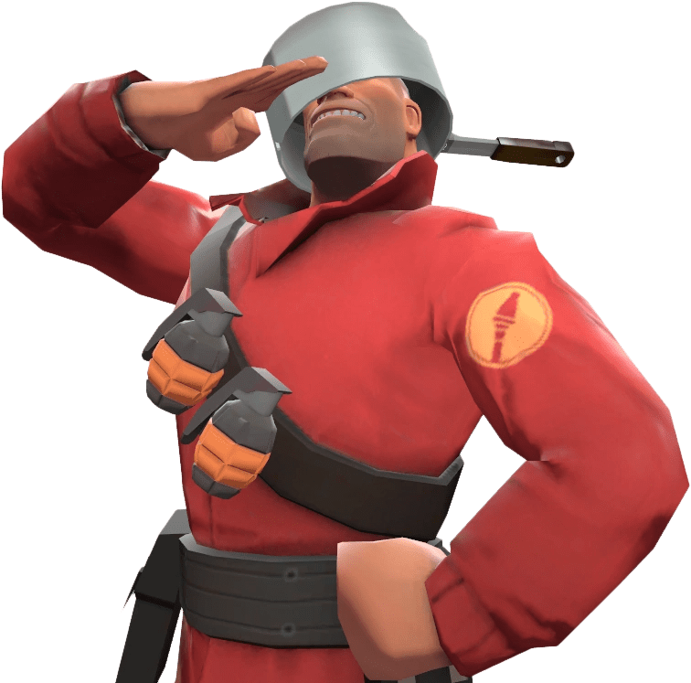 Image Soldier With The Stainless Pot TF2png Team