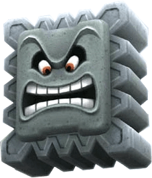 thwomp from super mario galaxy first game super mario bros 3 1988
