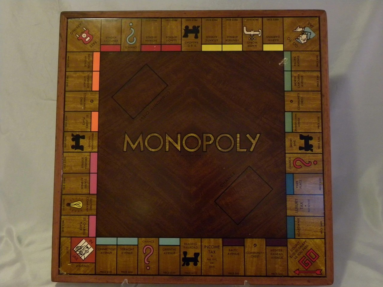 Cnc Wood Monopoly Board