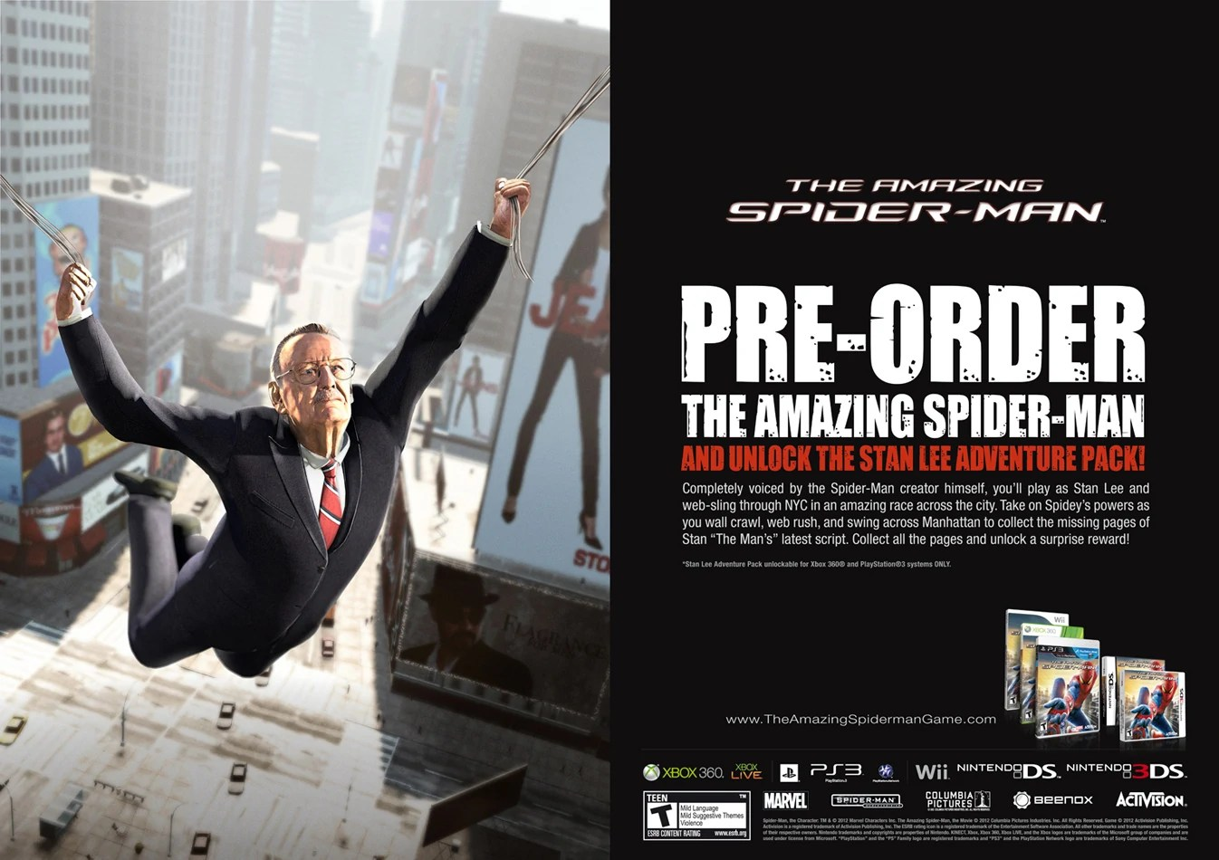 The Amazing Spider Man The Stan Lee Adventure Pack